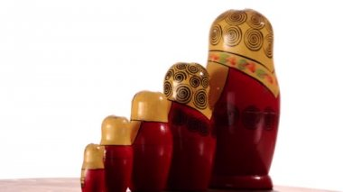 A vintage matryoshka — Vídeo Stock