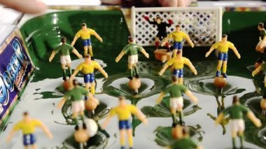 Vintage soccer toy — Wideo stockowe