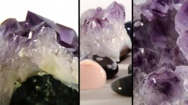 Semi-precious stones — Stock Video