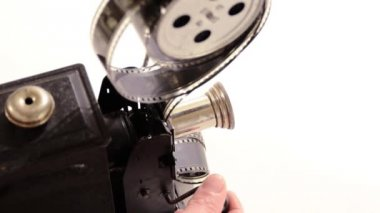 Vintage movie projector — Stock Video