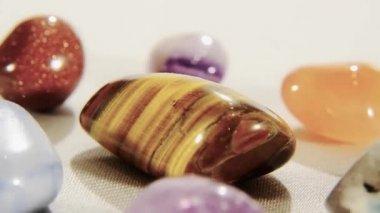 Semiprecious stones — Stock Video