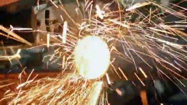 Metal cutting — Stock Video