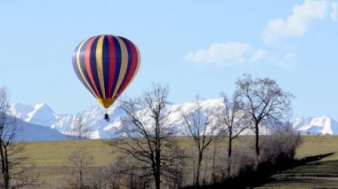 Hot air balloon — Stock Video