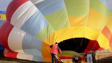 Hot air balloons — Stock Video