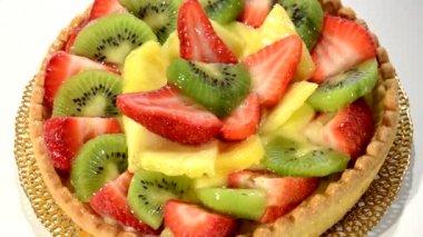 Fruit tart — Stock Video