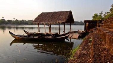 Cambodia, traditional boats — Stock Video