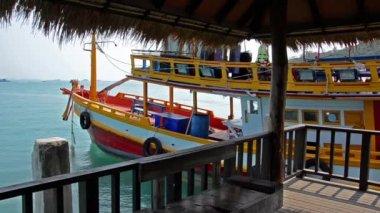 Thailand tourist boat — Stock Video