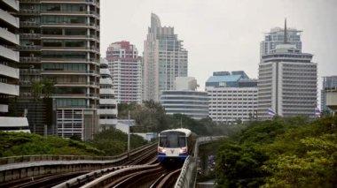 Bangkok, sky train — Stock Video