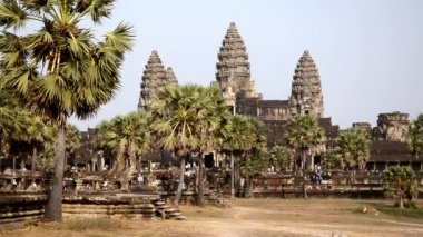 Ancient temple, angkor wat, cambodia — Wideo stockowe