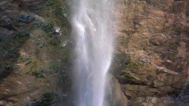 Alpine waterfall close up — Stockvideo