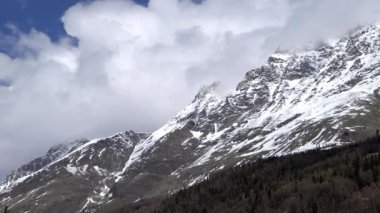 Snow capped mountain of the alps — Stock Video