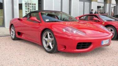 Cuorgnè, Italy, May 2014. Ferrari cars. — Video Stock