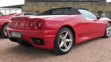 Cuorgnè, Italy, May 2014. Ferrari F340 Cabrio. — Stock Video