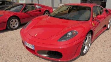 Cuorgnè, Italy, May 2014. Ferrari cars. — Stock Video