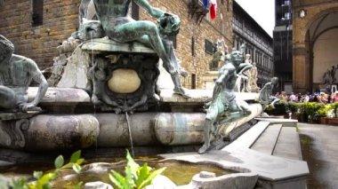 Fontän av Neptunus, Florens — Stockvideo