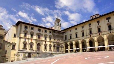Tuscany, arezzo, piazza grande — Stock Video