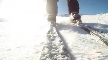 Skiing resort — Stock Video