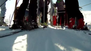 Ski lift — Stock Video