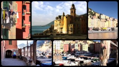 Camogli  montage — Stock Video