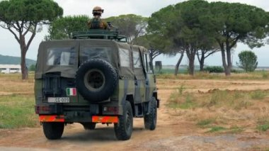 Italian Army. Military Exercise. — Vídeo de stock