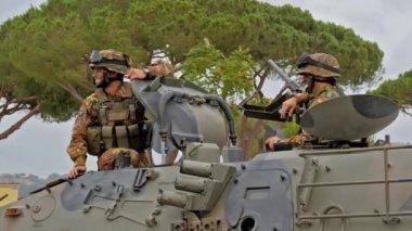 Italian Army. Military Exercise. — Stock Video