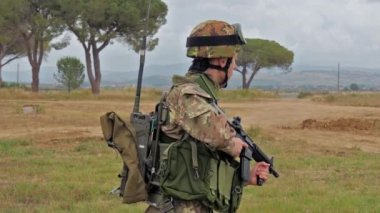Italian Army. Military Exercise. — Stock Video