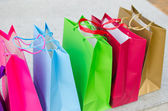 Colored gift bags — Stock Photo