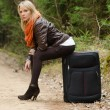 Pretty girl traveling  — Stock Photo