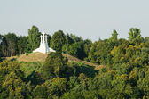 Lithuania. Vilnius. Monument of Three Crosses in the summer — Stock Photo