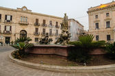 Archimede Square in Syracuse, Sicily — Stock Photo