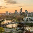 Lithuania. Beautiful golden Vilnius in the evening of the spring — Stock Photo