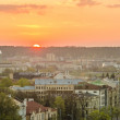 Sunset in Vilnius, Lithuania — Stock Photo