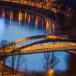 Mindaugas Bridge in Vilnius, Lithuania — Stock Photo
