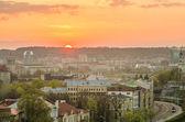 ビリニュス、リトアニアの日没 — ストック写真