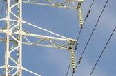 High voltage electricity bollard — Stock Photo