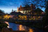 Litwa. wilno w godzinach wieczornych — Zdjęcie stockowe
