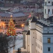 Stock Photo: Christmas tree in f Vilnius, Lithuania