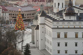 Christmas tree in f Vilnius, Lithuania — Stock Photo