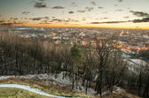 First days of winter in Vilnius, Lithuania — Stok fotoğraf