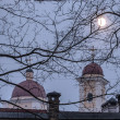 Full moon in Old Town of Vilnius, Lithuania — Stock Photo