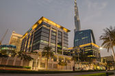 Downtown of Dubai in the sunset — Stock Photo
