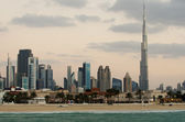 Downtown of Dubai. The view from the beach — Stock Photo