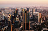 Downtown of Dubai (United Arab Emirates) in the early morning — Stock Photo