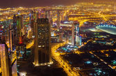 Downtown of Dubai (United Arab Emirates) at night — Stock Photo