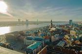 Riga (lettonia) di notte — Foto Stock