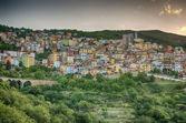 Horské městečko - lanusei (sardinie, itálie) — Stock fotografie