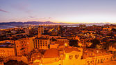 Old Town of Cagliari (Capital of Sardinia, Italy) in the sunset — Stock Photo