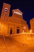 Cathédrale de cagliari (sardaigne, italie) dans la nuit — Photo