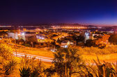 Old Town of Cagliari (Sardinia, Italy) at night — Stock Photo