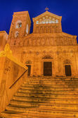 Cathedral of Cagliari (Sardinia, Italy) at night — Stock Photo